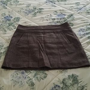 The Limited Brown Patterned Mini Skirt